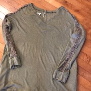 Khaki Sweater/sweatshirt Dress